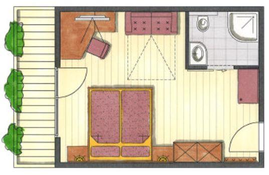 Das ist der Grundriss vom Familienzimmer Hochzillertal im Hotel Pachmair.