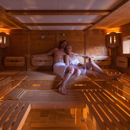 Die Sauna ist der ideale Platz zum Entspannen im Hotel Pachmair.