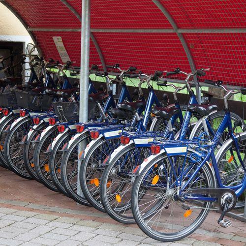 Unsere Fahrrad-Flotte steht zum Verleih bereit