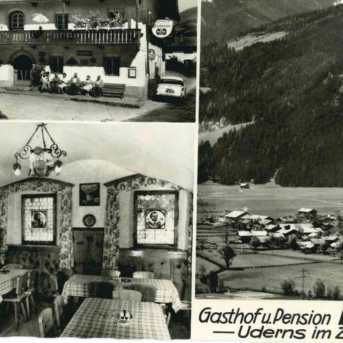 1962 Postkartenmotiv: Gasthof Pachmair & Uderns