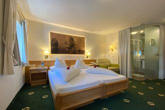 Die komfortablen Doppelzimmer Hochfeiler sorgen für einen angenehmen Aufenthalt im Hotel Pachmair.