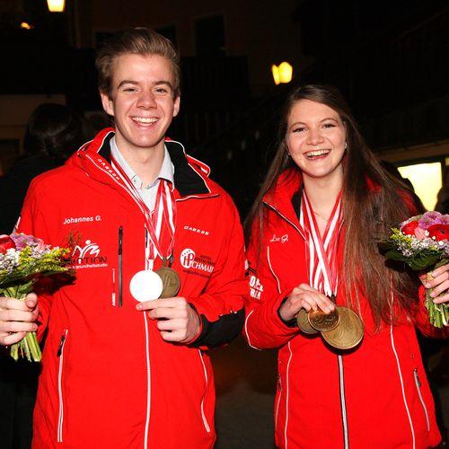 Lea und Johannes Geiger konnten gesamt 5 WM Medaillen gewinnen.