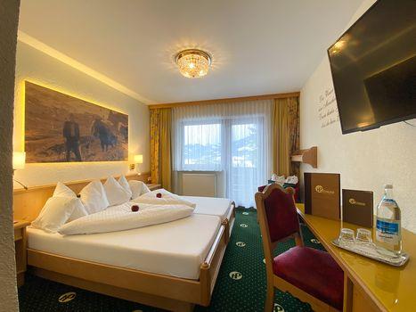 Die komfortablen Doppelzimmer Spieljoch sorgen für einen angenehmen Aufenthalt im Hotel Pachmair.
