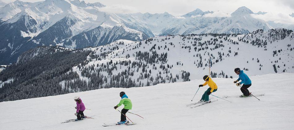 Skifahren mit der Familie am Actionberg Penken