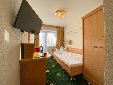 Die gemütlichen Einzelzimmer Spieljoch sorgen für einen angenehmen Aufenthalt im Hotel Pachmair.