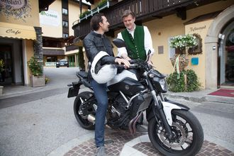Unseren Gästen steht ein kostenloser Verleih unseres Motorrads BMW R1200 GS zur Verfügung.