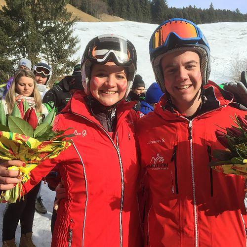 Die Geschwister Lea und Johannes jun. Geiger konnten gesamt 5 WM Medaillen nach Hause holen.