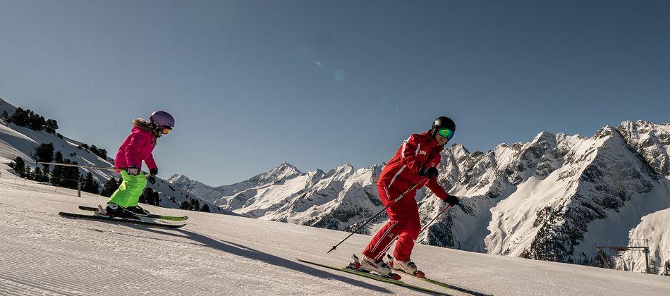 Skifahren mit der Familie im Zillertal