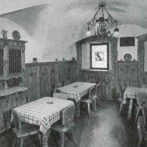 1964: Das Weinstüberl im Gasthof Pachmair