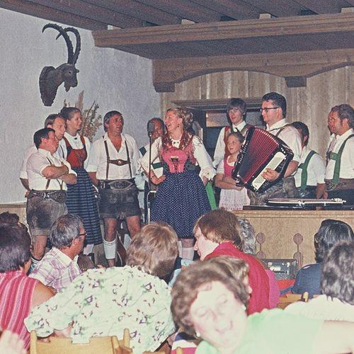1976: Tiroler Abend im Hotel Pachmair
