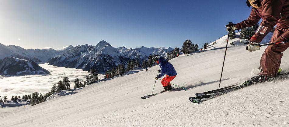 Das Zillertal ist mit 535 Pistenkilometer ein wahres Paradies für alle Ski- und Snowboardfahrer.